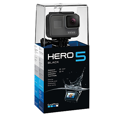 GoPro HERO5 Black Edition Camcorder, 4K Ultra HD, 12MP, Wi-Fi, Waterproof, GPS