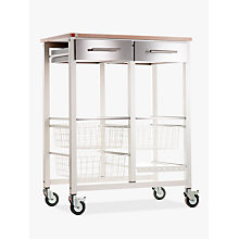 Buy Hahn Onda Double Butcher's Trolley, Ivory White / Beech Online at johnlewis.com