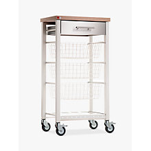 Buy Hahn Onda Butcher's Trolley, Ivory White / Beech Online at johnlewis.com