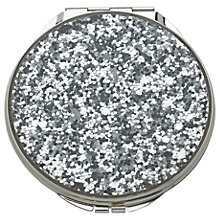Buy kate spade new york Glitter Compact Mirror, Silver Online at johnlewis.com