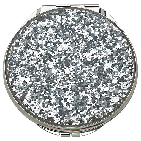 Buy kate spade new york glitter compact mirror silver for Mirror spades