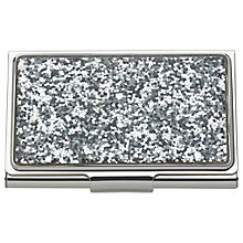 Buy kate spade new york Glitter Card Holder, Silver Online at johnlewis.com