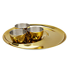 Buy John Lewis Fusion Kainoosh Thali Set, Gold Online at johnlewis.com