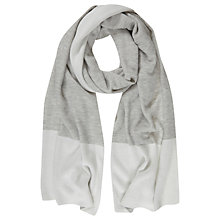 Buy Mint Velvet Blocked Scarf, Grey/Cream Online at johnlewis.com