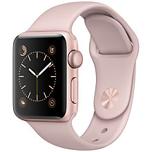 Buy Apple Watch Series 1 38mm Rose Gold Aluminium Case with Sport Band, Pink Sand Online at johnlewis.com
