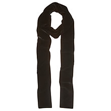 Buy Mint Velvet Velvet Skinny Scarf, Black Online at johnlewis.com