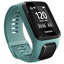 Buy TomTom Spark 3 GPS Fitness Activity Watch, Aqua, Small Online at johnlewis.com