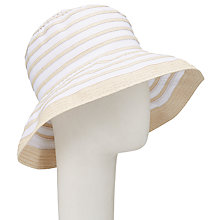 Buy John Lewis Braid and Ribbon Garden Hat, White/Cream Online at johnlewis.com