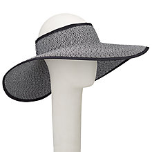 Buy John Lewis Packable Visor Bow Sun Hat, Natural/Black Online at johnlewis.com