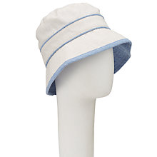 Buy John Lewis Reversible Bucket Hat, Chambray/Off White Online at johnlewis.com