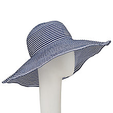Buy John Lewis Packable Stripe Floppy Hat, Navy/White Online at johnlewis.com