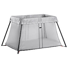Buy BabyBjörn Travel Cot, Silver Online at johnlewis.com