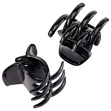 Buy Midi Claw Hair Grips, 2 Pack, Black Online at johnlewis.com