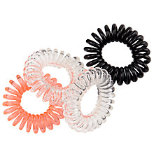 Buy Coil Hair Bobbles, 4 Pack, Multi Online at johnlewis.com