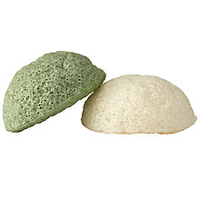 Buy Konjac Natural Green Tea Sponge Duo Online at johnlewis.com