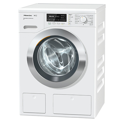 Image of Miele WKH122WPS Freestanding Washing Machine, 9kg Load, A+++ Energy Rating, 1600rpm Spin, White