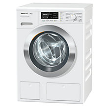 Buy Miele WKH122WPS Freestanding Washing Machine, 9kg Load, A+++ Energy Rating, 1600rpm Spin, White Online at johnlewis.com