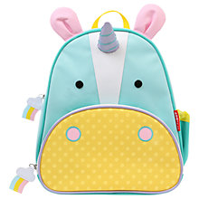 Buy Skip Hop Zoo Backpack, Unicorn Online at johnlewis.com