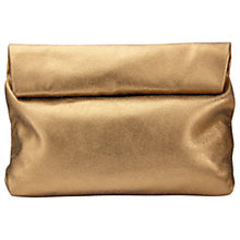 Buy Jigsaw Metallic Roll Top Clutch Bag, Bronze Online at johnlewis.com