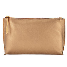 Buy Jigsaw Ally Make Up Pouch, Bronze Online at johnlewis.com