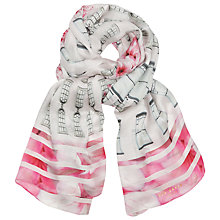 Buy Ted Baker Wendele Long Silk Scarf, Pink/Multi Online at johnlewis.com