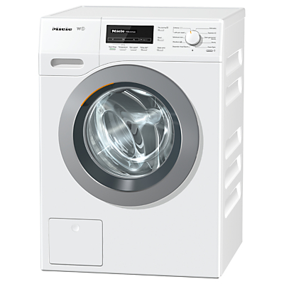 Image of Miele WKB130 Freestanding Washing Machine, 8kg Load, A+++ Energy Rating, 1600rpm Spin, White