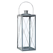 Buy John Lewis The Basics Pewter Lantern, Large Online at johnlewis.com