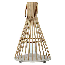 Buy Bamboo Tall Hurricane Lantern, Natural Online at johnlewis.com