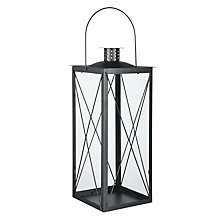 Buy John Lewis The Basics Pewter Lantern, Medium Online at johnlewis.com
