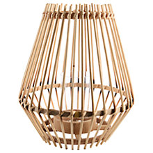 Buy Bamboo Contemporary Hurricane Lantern, Natural Online at johnlewis.com