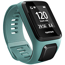 Buy TomTom Spark 3 Cardio & Music GPS Fitness Activity Watch with Built-In Heart Rate Monitor, Aqua, Small Online at johnlewis.com