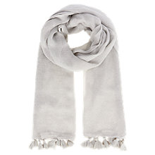 Buy Coast Paola Pom Pom Scarf, Silver Online at johnlewis.com