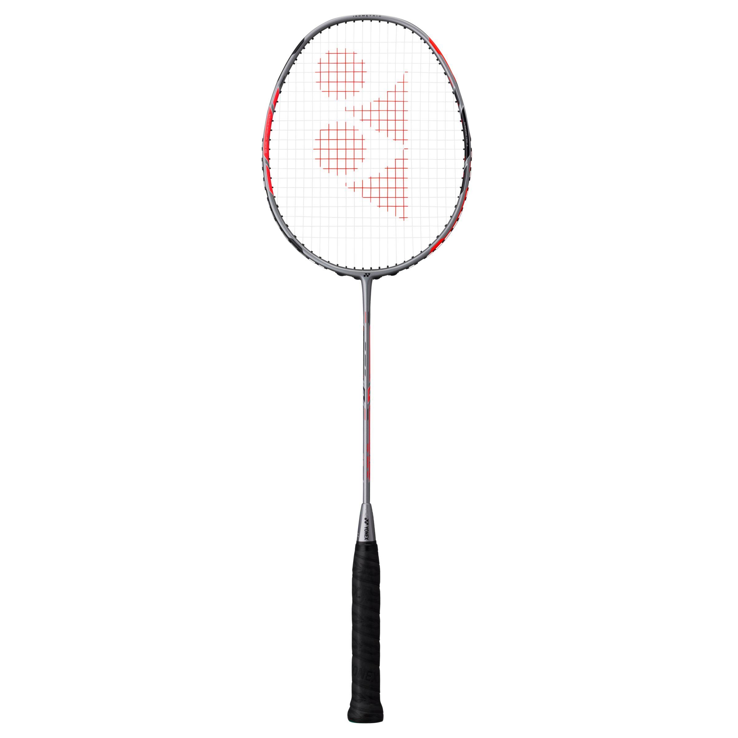 Yonex Yonex Duora 77 Badminton Racquet, Silver/Black/Red
