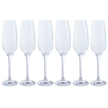 Buy Dartington Crystal All Purpose Champagne Flute, Set of 6 Online at johnlewis.com