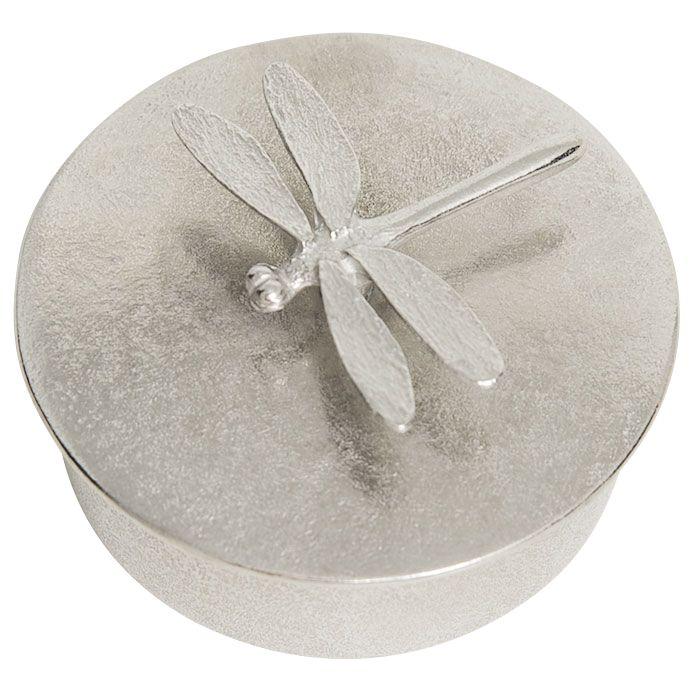 Lancaster and Gibbings Lancaster and Gibbings Dragonfly Jewellery Box, Pewter, Medium