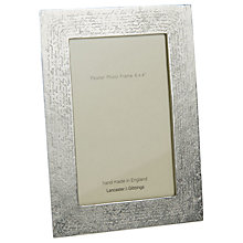 "Buy Lancaster and Gibbings Handwriting Photo Frame, 6 x 4"", Pewter Online at johnlewis.com"