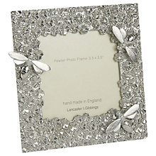 "Buy Lancaster and Gibbings Bee Photo Frame, 3.5 x 3.5"", Pewter Online at johnlewis.com"