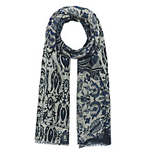 Buy Gerard Darel Wilderness Scarf, Navy Blue Online at johnlewis.com