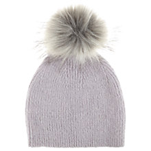 Buy Mint Velvet Knitted Faux Fur Pom Pom Hat Online at johnlewis.com