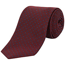 Buy Jaeger Textured Diamond Dot Silk Tie Online at johnlewis.com