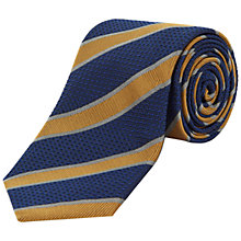Buy Jaeger Grosgrain Stripe Silk Tie, Navy/Gold Online at johnlewis.com