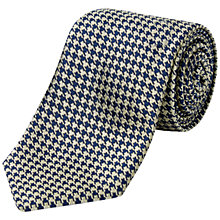 Buy Jaeger Mini Houndstooth Silk Tie Online at johnlewis.com