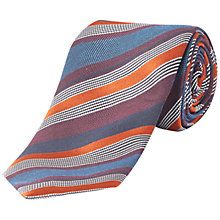 Buy Jaeger Multi-Stripe Silk Tie Online at johnlewis.com
