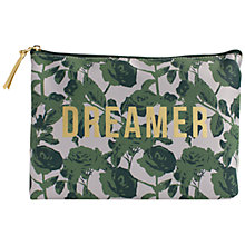 Buy John Lewis Dreamer Cosmetic Pouch, Green Online at johnlewis.com