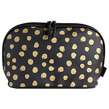 Buy John Lewis Molly Dot Zipover Cosmetics Bag, Black/Gold Online at johnlewis.com