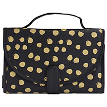Buy John Lewis Molly Dot Roll Up Case, Black/Gold Online at johnlewis.com