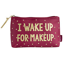 Buy John Lewis 'I Wake Up For Makeup' Pouch, Red/Multi Online at johnlewis.com