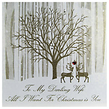 Buy Five Dollar Shake To My Darling Wife All I Want For Christmas is You Card Online at johnlewis.com