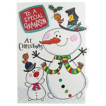 Buy Rachel Ellen Grandson Christmas Wonky World Card Online at johnlewis.com