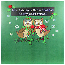 Buy Saffron Cards and Gifts To A Fabulous Nan & Grandad Merry Christmas Card Online at johnlewis.com